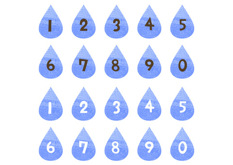 Drop-shaped numbers