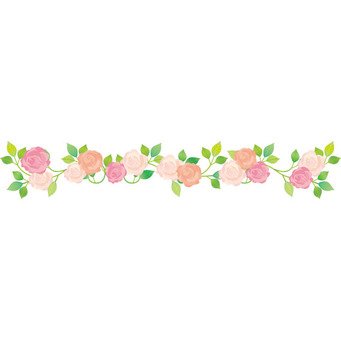 Garland line of flowers Roses