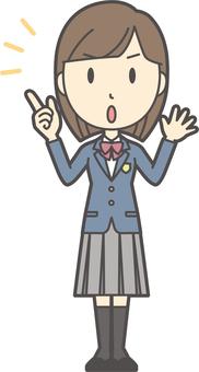 高中學生西裝外套女人-296-全身