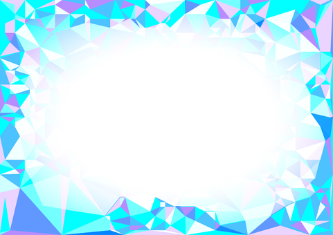 Light blue polygon vector frame background material