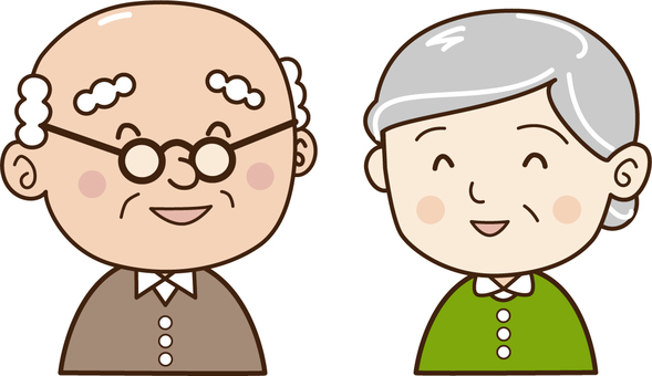 Elderly people-couple-smile