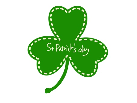 St Patricks Day Shamrock Lettering