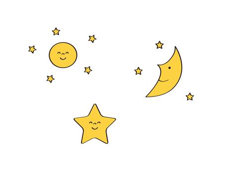 Moon_Star_Crescent_Full Moon_Smile_Set
