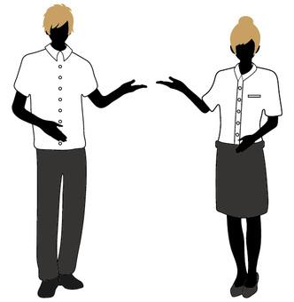 Suit men's and women's summer clothes