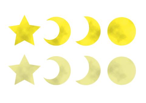 Moon icon watercolor