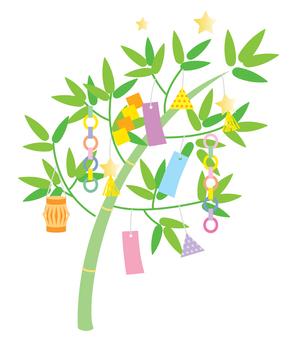 Tanabata decoration 01 yellowish green