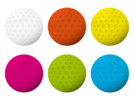 Golf color ball set