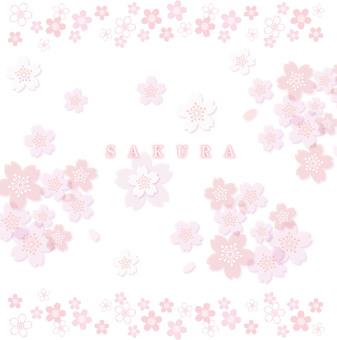 桜 デザイン 地紋 イラスト