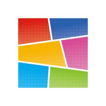 Comic dot pattern frame