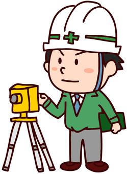 A surveyor male illustration