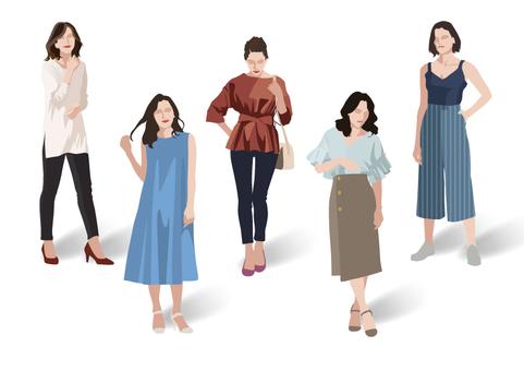 여름 패션 여성