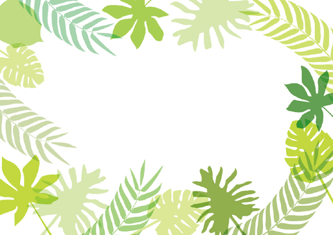 Tropical leaf frame 2