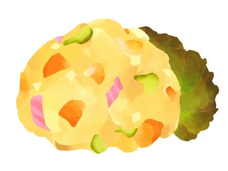 Illustration of potato salad