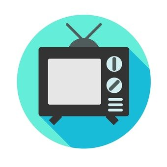 Flat icon - TV