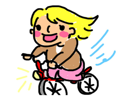 A woman on a bicycle