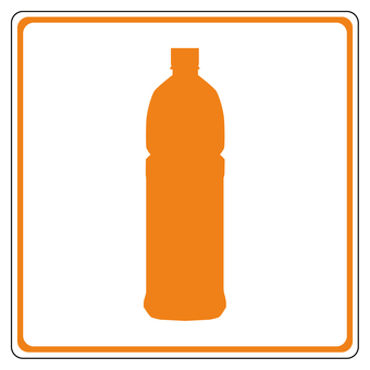 PET bottle garbage icon