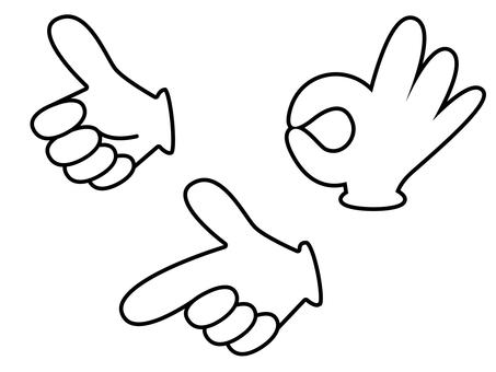 Hand sign 17 sets