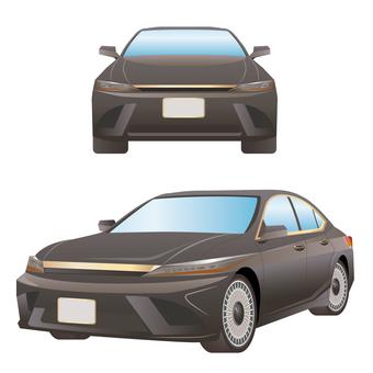Car front and side set sedan