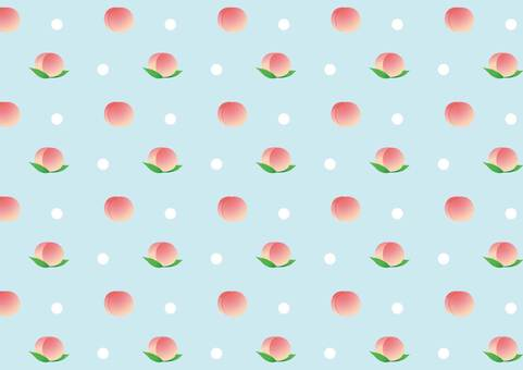 Peach pattern blue