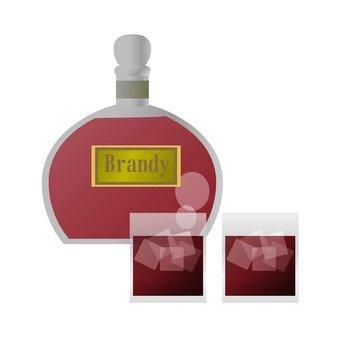 브랜디 병 및 유리