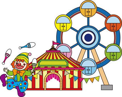 Townscape - amusement park - clown 02