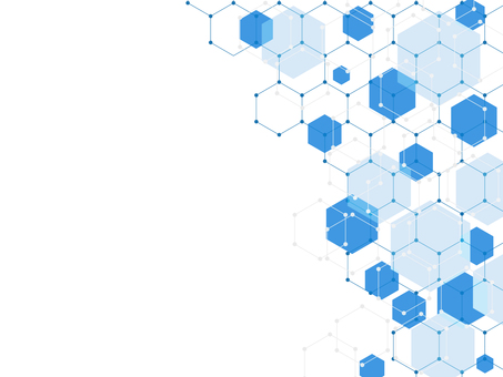 Hexagon background blue