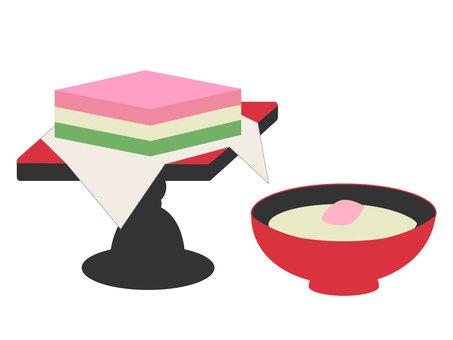 Hinamatsuri sweet sake & rice cake