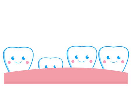 Breast teeth instead