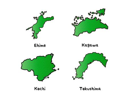 Shikoku region set