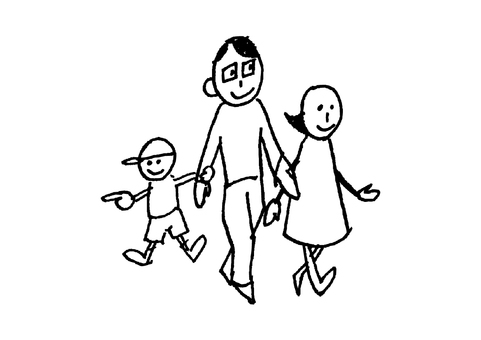 Rustic family _ walking _ black