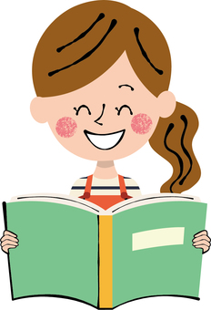 Reading Week Hobby Book Green female apron