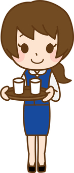 Drink business woman