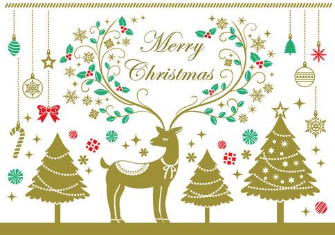 Reindeer card material 1