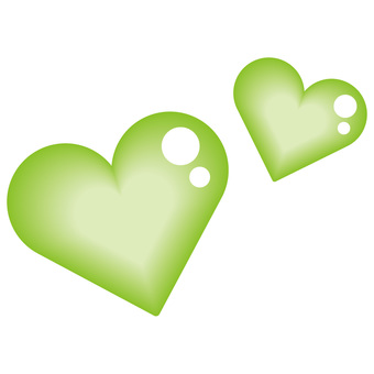 Heart double green