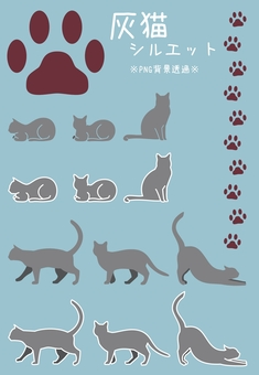 Ash cat silhouette