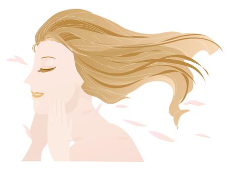 美しい女性の横顔