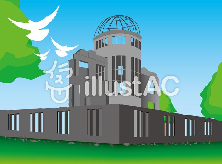原爆ドーム. 原爆ドームのイラスト