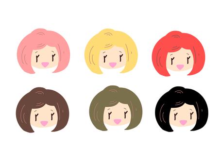 カラーリングした髪