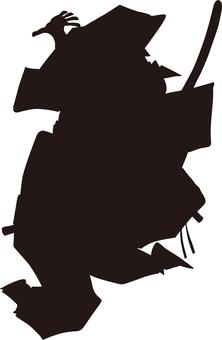 Ukiyo-e character silhouette part 77