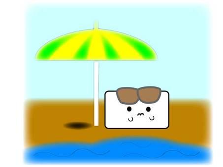 Enjoying the summer sea