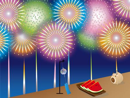 Japanese frame fireworks