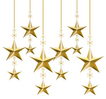Christmas ornament Star ornaments