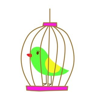 Basket bird (green) 1