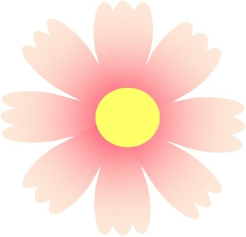 Cute cosmos icon (light pink)