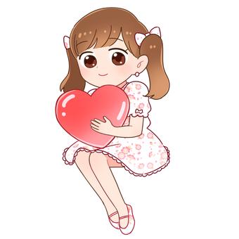 Valentine girl (white)