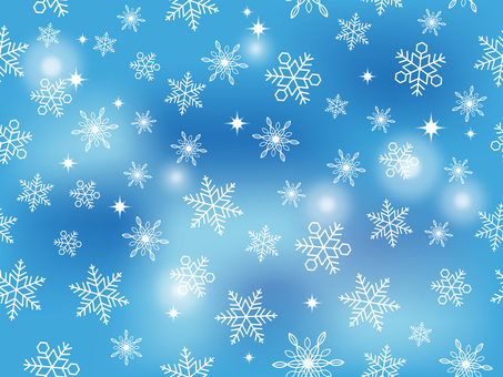 Seamless snow background horizontally and vertically Blue