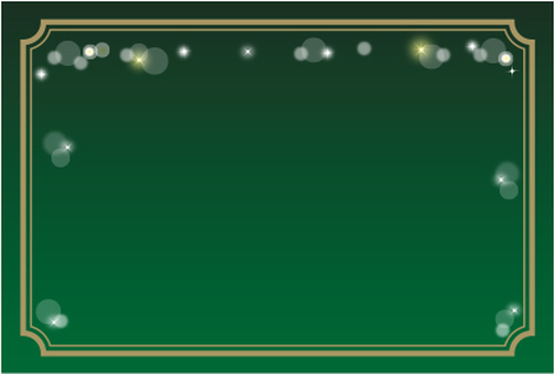 Glitter decoration frame green