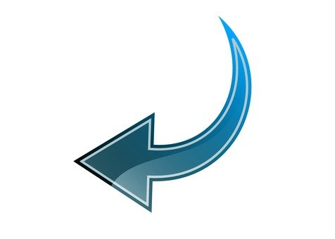 Left Down Arrow (Blue)