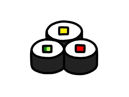 Assorted thin rolls