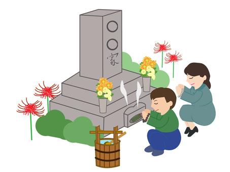 Grave visit - Background of Higanbana